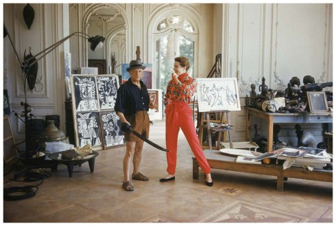 photo-mark-shaw-pablo-picasso-with-french-model-bettina-graziani-in-his-cannes-villa-la-californie-1955