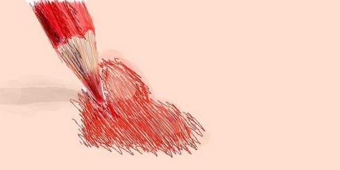 Рисунок-сердца
