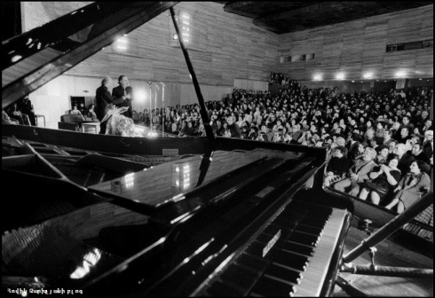 An Erivan concert Hall honouring his presence for the first time.1976.