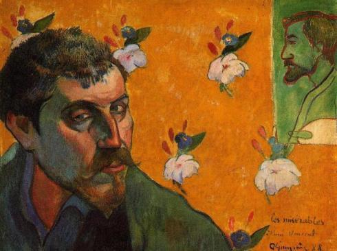 Автопортрет посвященный Винсенту Ван Гогу (Отверженные)-1888-45х55-Van Gogh Museum, Amsterdam, Netherlands