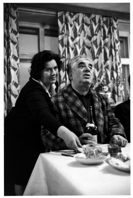 USSR. 1965. Aram KHACHATURIAN, the composer, with his wife.